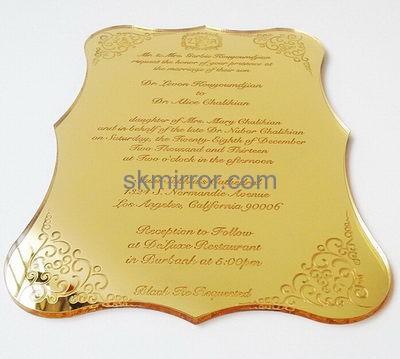 Customized Acrylic Plexiglass Wedding Invitations Customizable