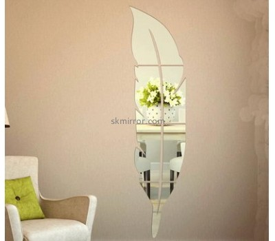 Factory custom made hologram sticker antique gold leaf frame wall mirror sticker mirror MS-059