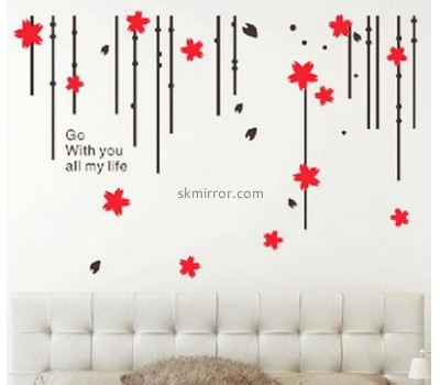 Factory wholesale acrylic decal wall sticker mirror strips  MS-034