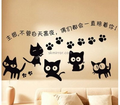 Factory wholesale acrylic wall mirror stickers MS-016