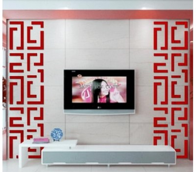 Factory wholesale acrylic mirror wall tiles sticker MS-030