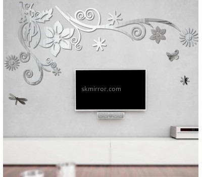 Factory wholesale acrylic silver sticker 3mm  wall mirror decorative MS-037