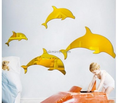 Wholesale acrylic mirror wall dolphin mirror gold mirror MS-100