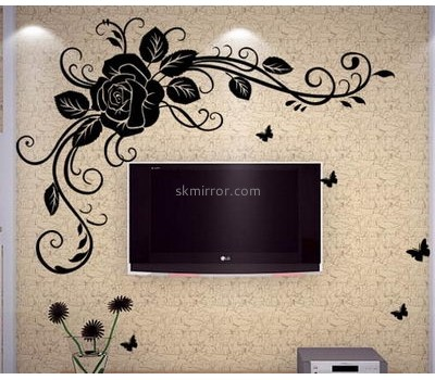 Wholesale acrylic mirror sticker self adhesive wall mirror decoration stickers 3d floor sticker MS-115