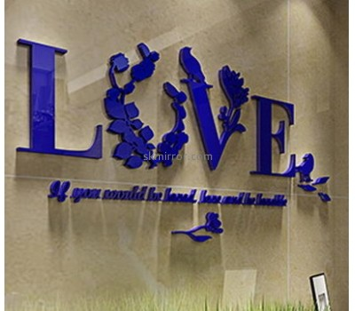Hot sale acrylic acrylic wall sticker 3d mirror letter 3d wall sticker MS-116