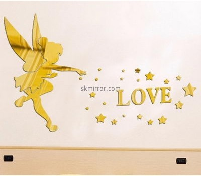 Customized acrylic mirror wholesale self adhesive wall mirror decoration stickers acrylic mirror decoration sticker MS-144