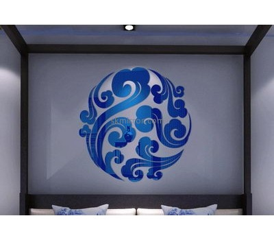 Customized acrylic ikea acrylic wall sticker round wall mirror 3d sticker MS-149