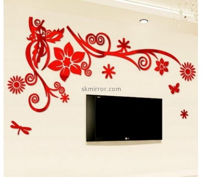 Custom design acrylic wall sticker 3d acrylic mirror sticker large wall mirror MS-176