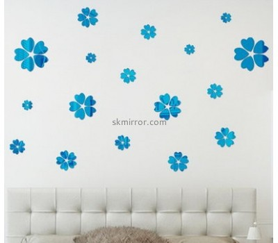 Customized acrylic mirror self adhesive wall mirror decoration stickers korean wall sticker MS-189
