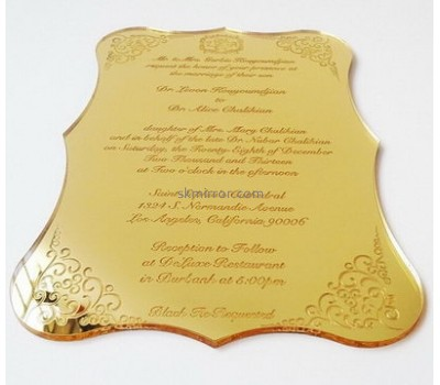 Customized acrylic plexiglass wedding invitations customizable invitations invitation design MI-005