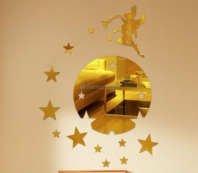 Wholesale acrylic mirror decoration stickers wall sticker decor stickers for mirrors decoration MS-229