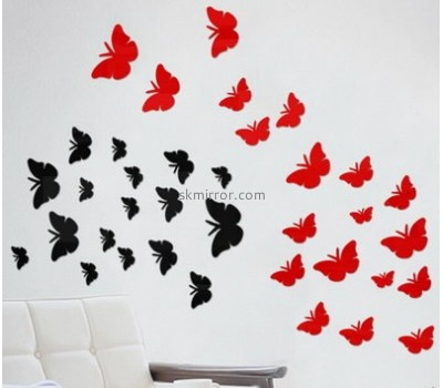 Customized acrylic butterfly wall stickers acrylic mirror wall decor stickers MS-231