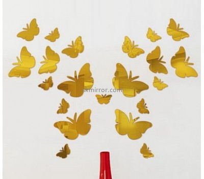 Customized acrylic room stickers wall stickers kids butterfly mirror wall stickers MS-230