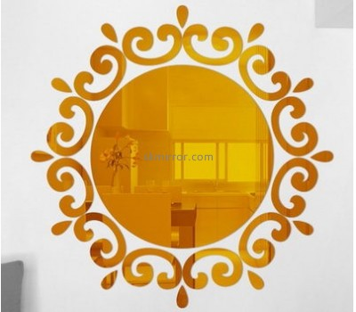 Wholesale acrylic stickers acrylic wall mirror small round mirrors MS-288