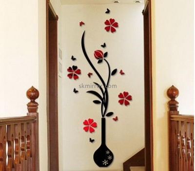 Acrylic decorative mirror manufacturers custom design acrylic perspex mirror home wall decals MS-341