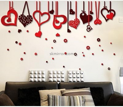 Custom bedroom stickers acrylic decorative mirror stickers mirrors for decorating walls MS-446