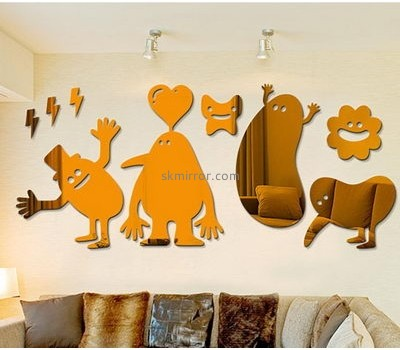 Custom acrylic mirror design on wall mirror wall decor set wall stickers for kids room MS-451
