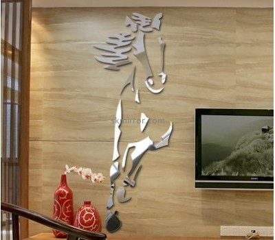 Custom acrylic home decor 3d stickers horse wall stickers decor mirror for living room MS-461