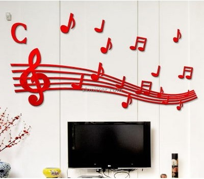 Custom acrylic decorative mirrors living room decoration sticker wall decor decals MS-473
