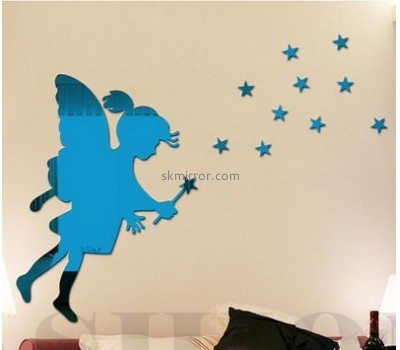 Custom acrylic star wars wall decals self adhesive mirror wall tiles unique decorative mirrors MS-478