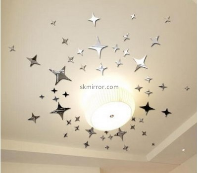 Customized acrylic sticker wall sticks star mirrors sale MS-481