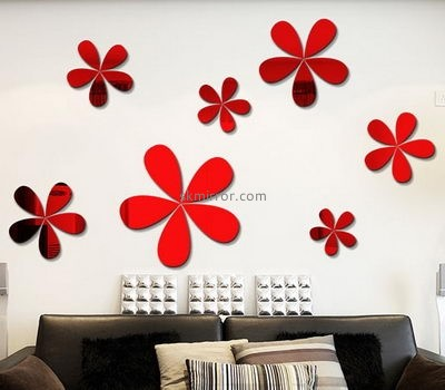 Custom cheap stickers 3d stickers wall decor mirror for living room MS-492