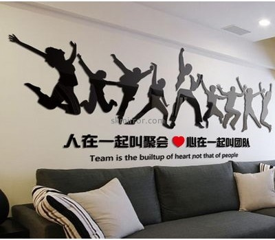 Custom acrylic mirror 3d sticker decorations for mirrors MS-513