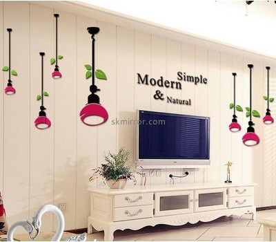 Custom acrylic perspex mirrors living room wall 3d stickers MS-530