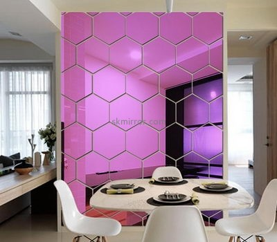 Custom acrylic stickers 3d decorative small wall big mirrors for sale MS-536