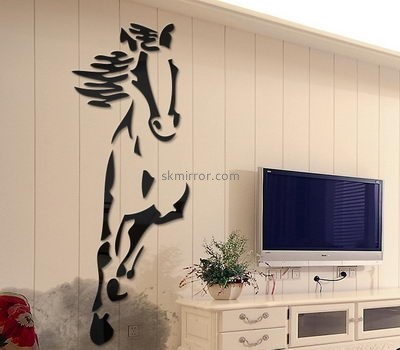 Custom black acrylic home wall decor stickers mirror MS-543