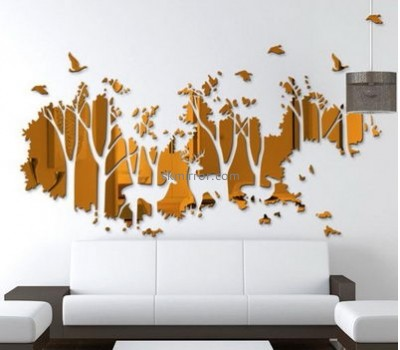 Custom large acrylic decorative mirrors jungle wall decals stickers bedroom MS-576
