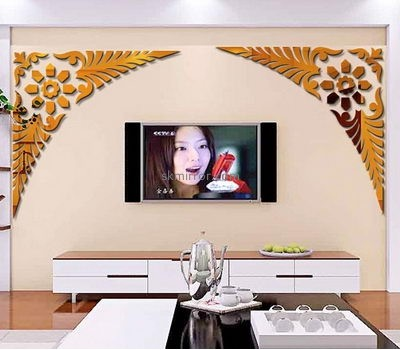Mirror suppliers custom acrylic oval wall mirrors decorative stickers  MS-649