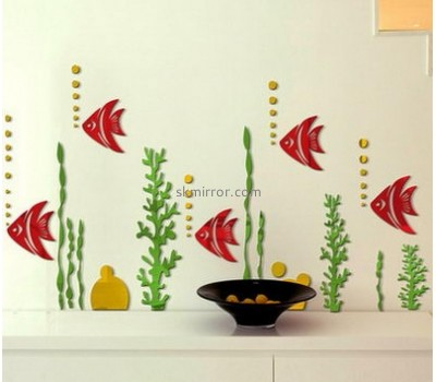 China mirror manufacturers custom acrylic unique decorative mirrors stickers MS-654