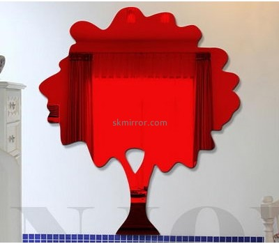 Mirror manufacture custom design decorative bathroom wall mirrors stickers MS-696