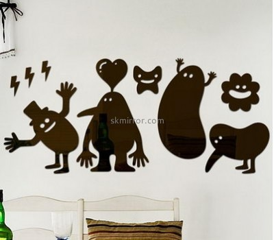 Decorative mirror manufacturers custom design family wall decals stickers MS-706