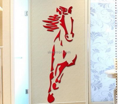 Mirror manufacture customize plastic acrylic wall art stickers MS-747