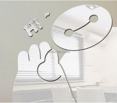 Sticker manufacturer customize acrylic mirror sticker bathroom mirror decals MS-763