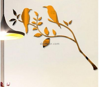 Mirror manufacturers customize bird wall mirror decorative stickers for mirrors MS-766