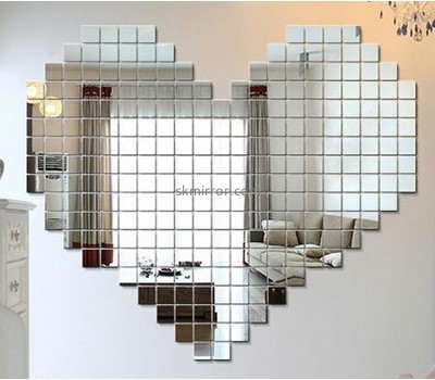 Mirror manufacturers customize inexpensive decorative mirrors mirrored wall decals stickers MS-784