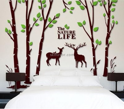 Wholesale mirrors suppliers customize 3d tree wall stickers MS-806