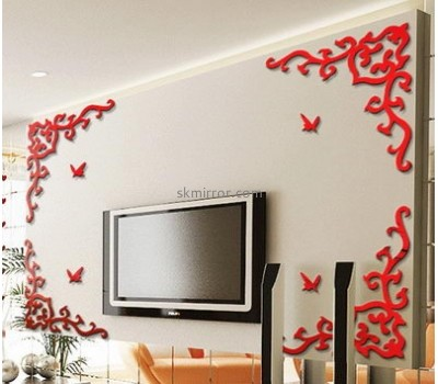 Wholesale mirrors suppliers customize acrylic personalised wall art mirror stickers MS-824