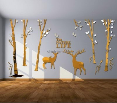 Mirror manufacturers customized large wall tree decal mirrors MS-837