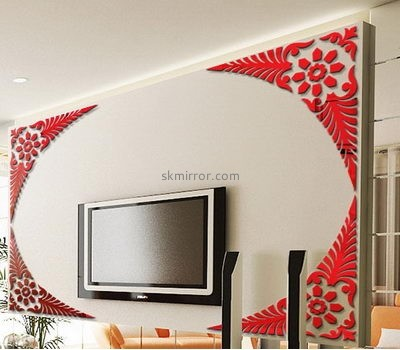 Decorative mirror manufacturers custom made 3d wall mirror decal sticker MS-849