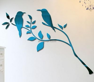 Wholesale mirrors suppliers customized bird wall decals 3d mirror MS-850