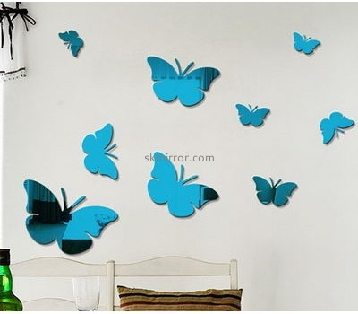 Mirror company customized acrylic 3d butterfly wall stickers MS-856
