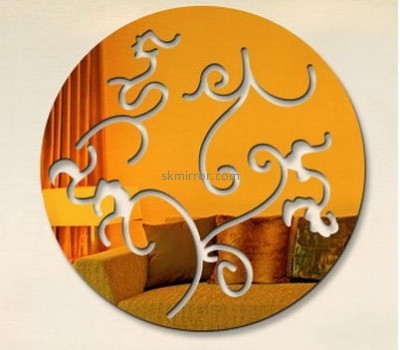 Mirror manufacturers customized acrylic round wall decals mirror MS-883
