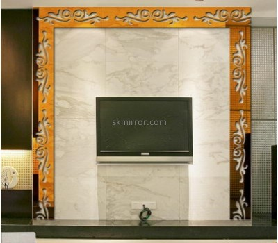 Mirror factory customized 3d home wall large decorative mirrors sticker MS-889
