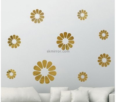 Sticker manufacturer customized acrylic mirror home decor wall stickers MS-1038