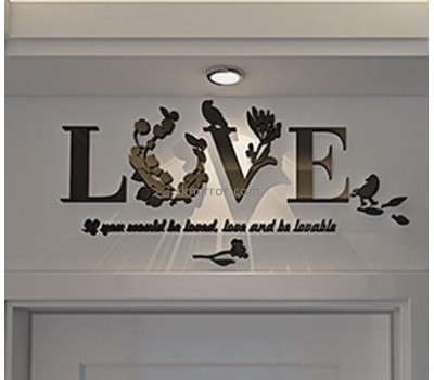 Mirror company customized acrylic mirror letter wall stickers MS-1043