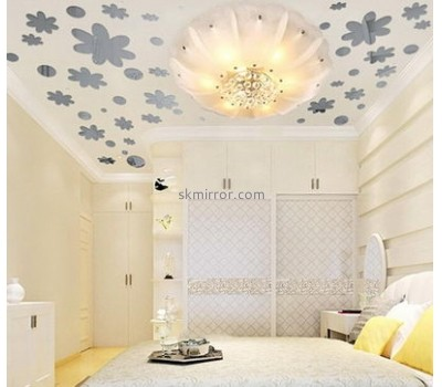 Wholesale mirrors suppliers customized acrylic mirror wall decals and wall stickers MS-1063